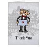 El portador de anillo le agradece asistente del bo tarjetas
