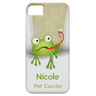 El portador del mascota de la rana personaliza iPhone 5 Case-Mate coberturas