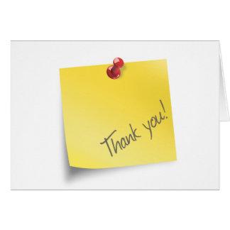 El post-it le agradece tarjeta de felicitación