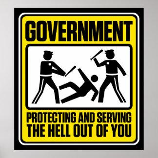 El poster amonestador del gobierno