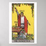 El poster de la carta de tarot del mago