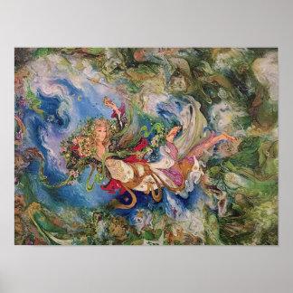 El poster del arte de Farshchian del persa de la
