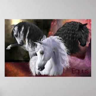 El poster del caballo del Equus, mate/papel del Póster