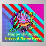 El poster del feliz cumpleaños