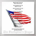 El poster del rezo del bombero