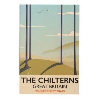 El poster del viaje de Chilterns Gran Bretaña Impresión En Madera