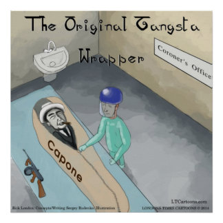 El poster divertido fúnebre de Al Capone