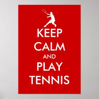 El poster el | del tenis de la calma y del juego d