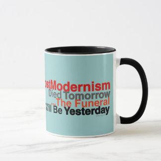 El PostModernism divertido murió mañana taza de
