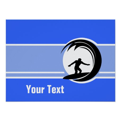 El practicar surf; Azul Impresiones