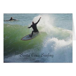 El practicar surf de Santa Cruz Tarjeta De Felicitación