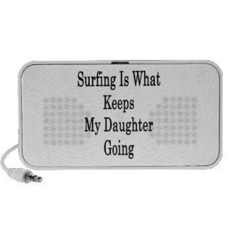 El practicar surf es qué guarda mi ir de la hija mini altavoz