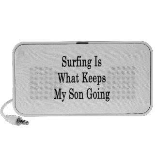El practicar surf es qué guarda mi ir del hijo notebook altavoz