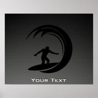 El practicar surf liso posters