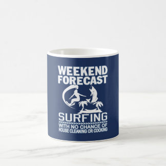 EL PRACTICAR SURF PREVISTO FIN DE SEMANA TAZA DE CAFÉ