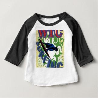 el practicar surf tribal camiseta de bebé
