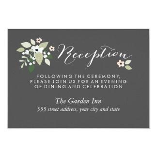 El prado florece tarjeta de la recepción invitación 8,9 x 12,7 cm