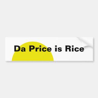 El precio de DA es arroz Pegatina Para Coche