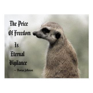 El precio de la libertad es vigilancia eterna - postal