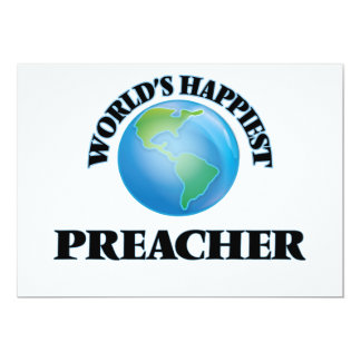 El predicador más feliz del mundo invitación 12,7 x 17,8 cm