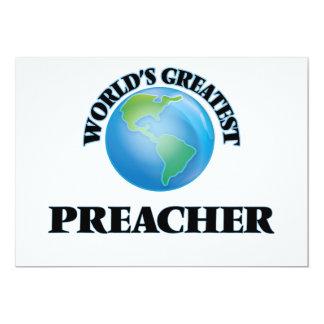 El predicador más grande del mundo invitación 12,7 x 17,8 cm