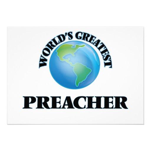 El predicador más grande del mundo invitacion personal