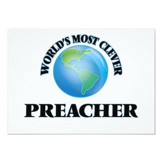 El predicador más listo del mundo invitación 12,7 x 17,8 cm