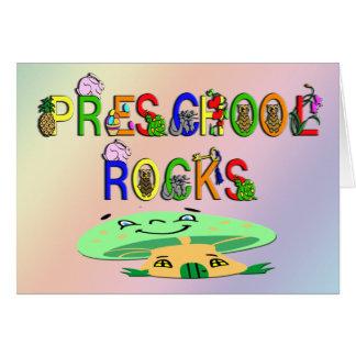El preescolar oscila la seta tarjeta de felicitación