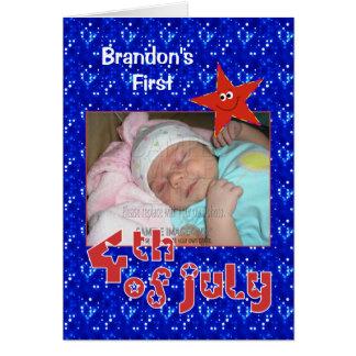 El primer 4to del bebé de la foto de julio tarjeta