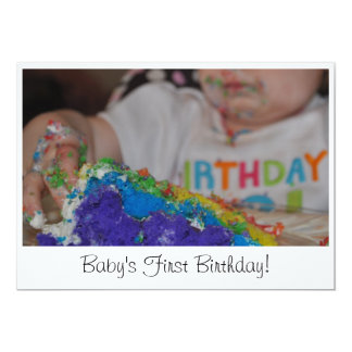 El primer cumpleaños del bebé invitación 12,7 x 17,8 cm