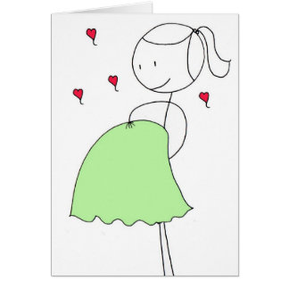 El primer día de madre feliz tarjeta de felicitación