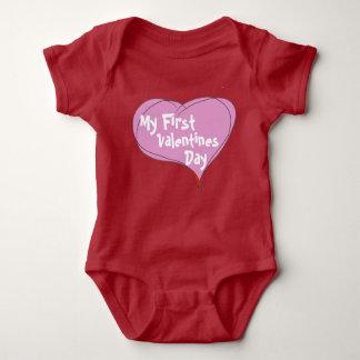 El primer día de San Valentín del bebé Body Para Bebé