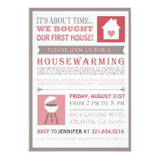 El primer estreno de una casa del Cookout de la Invitación 12,7 X 17,8 Cm