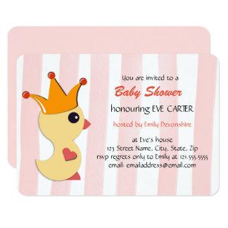 El príncipe fiesta de bienvenida al bebé - rosa invitación 8,9 x 12,7 cm