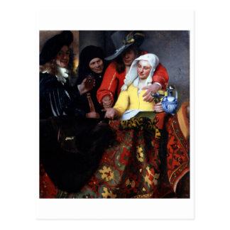 El Procuress de Juan Vermeer Postal