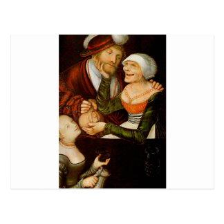 El Procuress por Lucas Cranach la anciano Postal