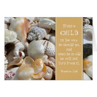 El profesor cristiano del Seashell le agradece Tarjeta Pequeña
