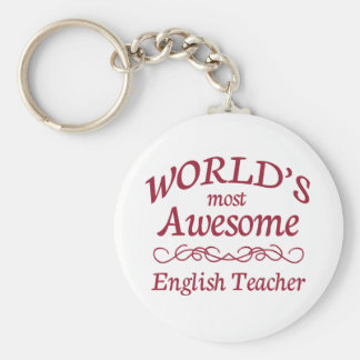 El profesor de inglés más impresionante del mundo llavero redondo tipo chapa