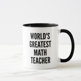 El profesor de matemáticas más grande de los taza
