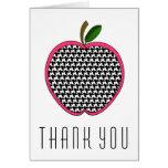 El profesor le agradece cardar - Houndstooth Apple Tarjeta De Felicitación