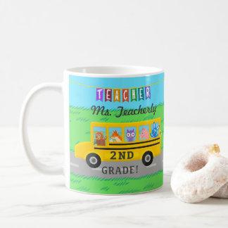 El profesor le agradece los animales lindos de taza de café