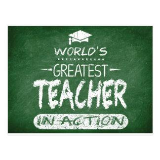 El profesor más grande del mundo en la acción postal
