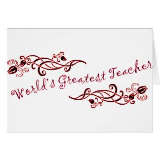 El profesor más grande del mundo felicitación