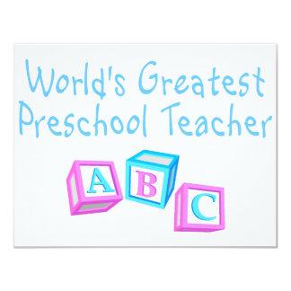 El profesor preescolar más grande de los mundos invitación