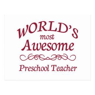 El profesor preescolar más impresionante del mundo postal