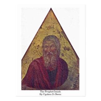 El profeta Isaías de Ugolino di Nerio Postal