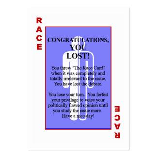 El programa de carreras tarjetas de visita grandes