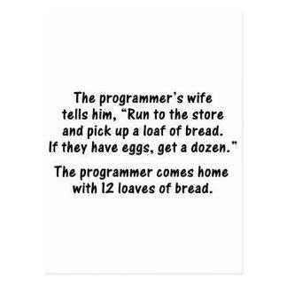El programador y su esposa - en segundo lugar en postal