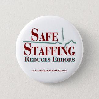 El proveer de personal seguro reduce el botón de