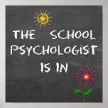 El psicólogo de la escuela está en poster